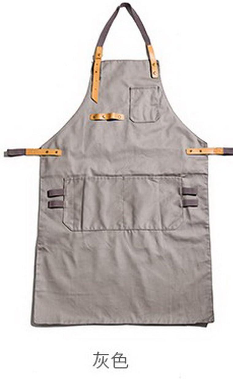 Geranjie韓国ファッションコットンコーヒーショップエプロンStudio ArtisanペイントBaking Waiter Work Wear布無料印刷ロゴ1 pc