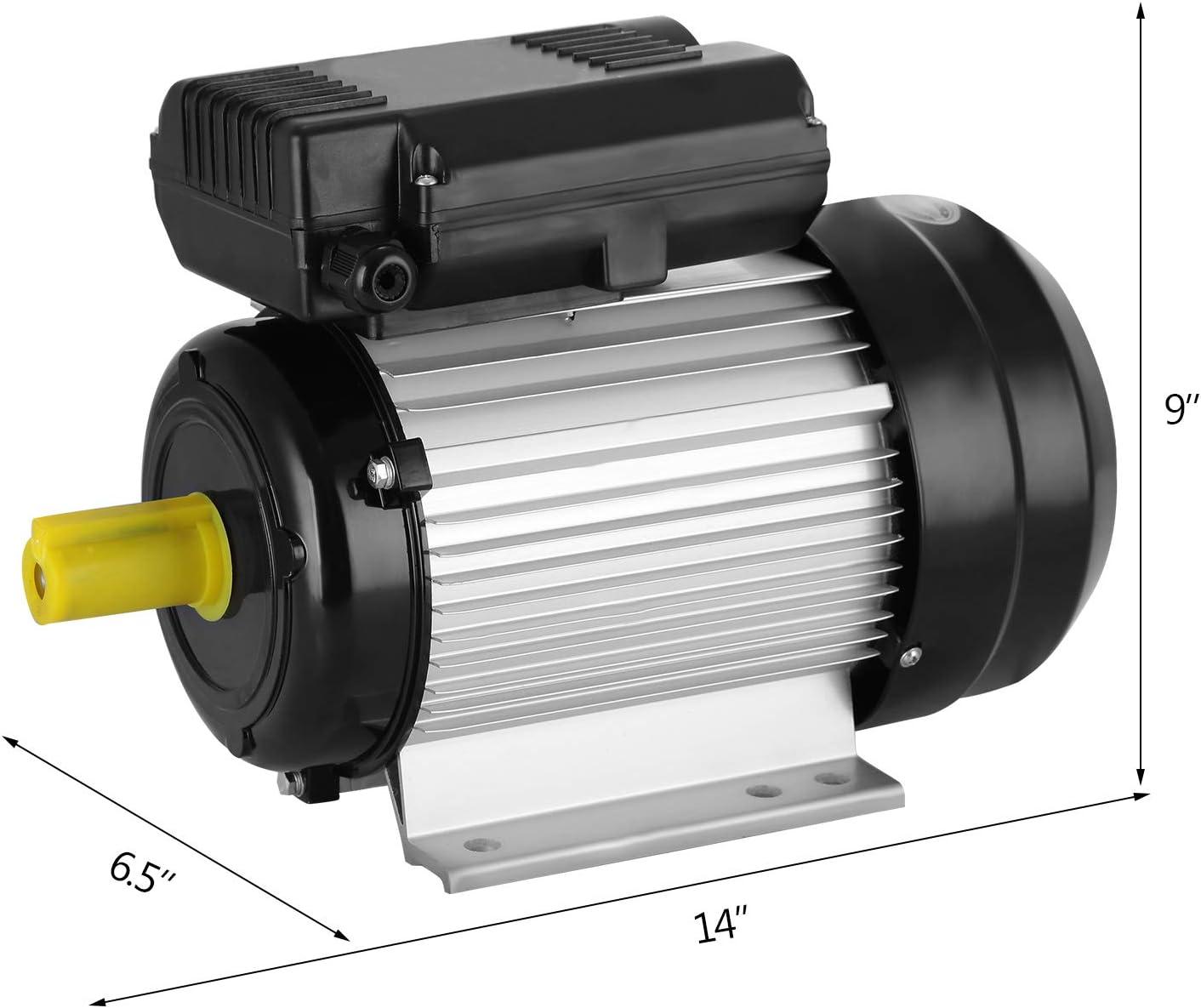 2.2KW Olibelle Moteur /Électrique Monophas/é 2.2KW 3HP /à Condensateur Moteur 220V Monophas/é Compresseur dAir de Moteur /à Pression /Électrique