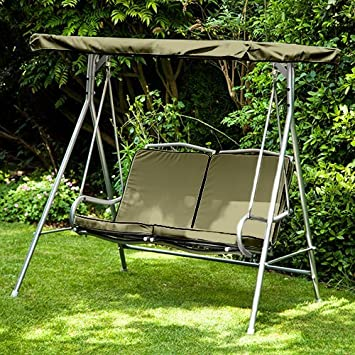 Olive Water Resistant Replacement Canopy for 2 Seater Argos Malibu Swing Seat *Swing not Included & Olive Water Resistant Replacement Canopy for 2 Seater Argos Malibu ...