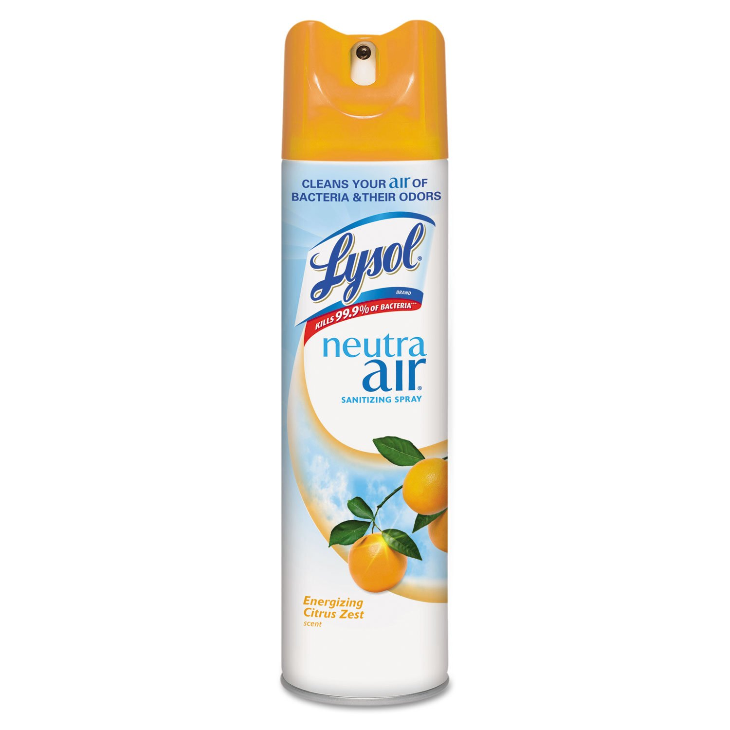 Lysol Neutra Air Sanitizing Spray Air Freshener, Aerosol, Energizing Citrus Zest, 10 Ounce  (Pack of 12)