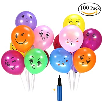 Lezed Emoji Luftballons Party Dekorationen Geburtstag Ballons