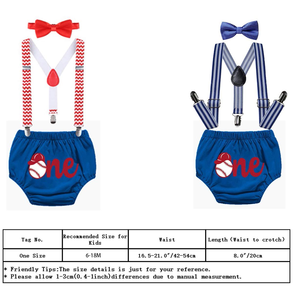 MYRISAM Baseball Cake Smash Outfit Baby Boys First Birthday Photo Prop Suspender Diaper Cover Bow Tie Baby Shower Costume