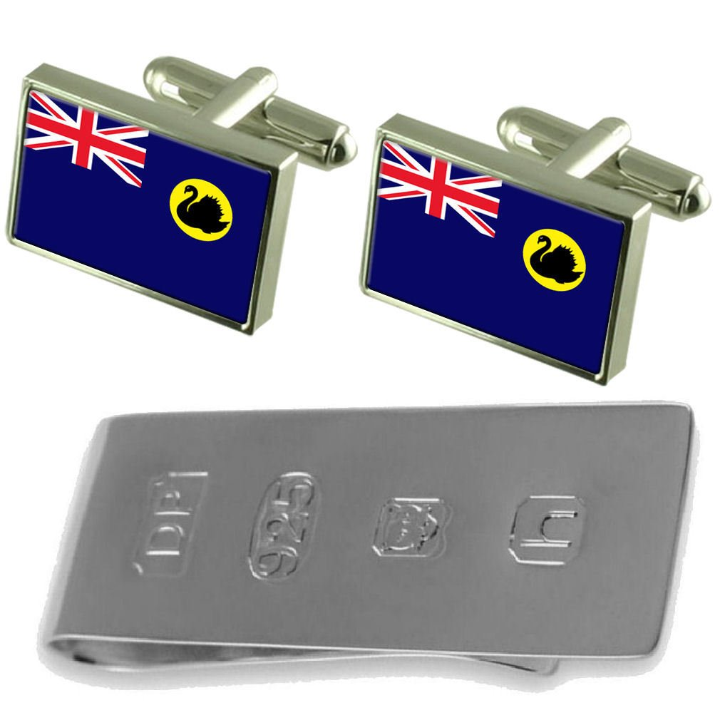 Western Australia Flag Cufflinks & James Bond Money Clip