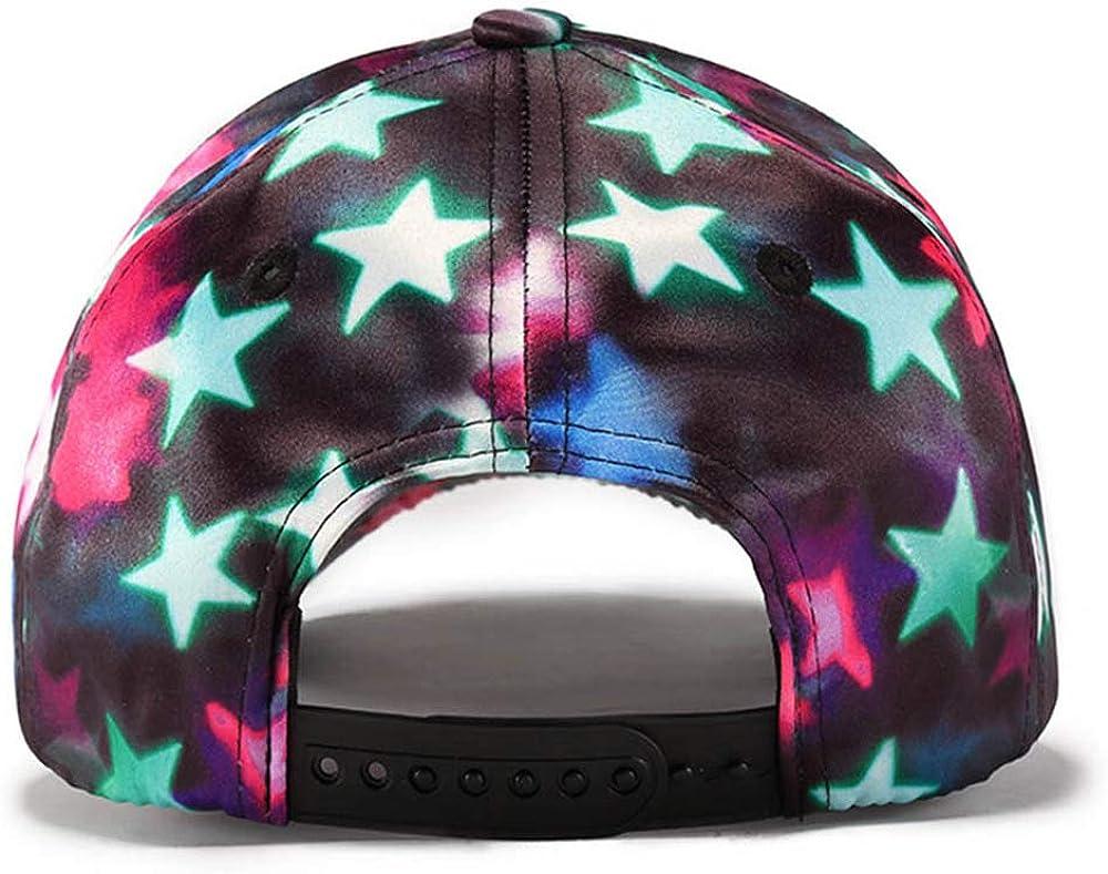 WAYPGC Baseball Cap Gradient Color Stars Girls Fashion Hip Hop Hat Casual Outdoor Adjustable Sun Hat