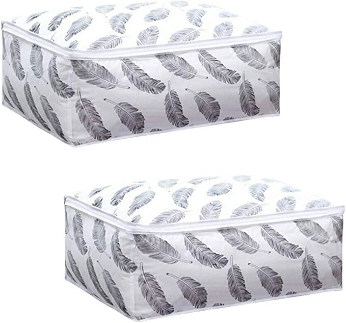 Home Large Capacity Clothes Quilt Storage Bag Organizer with Reinforced 0005