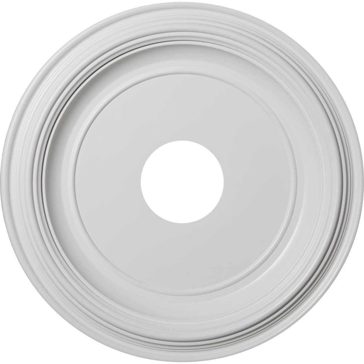Ekena Millwork CMP16TR Traditional Thermoformed PVC Ceiling Medallion, 16''OD x 3 1/2''ID x 1 3/8''P (Fits Canopies up to 9 1/2''), White