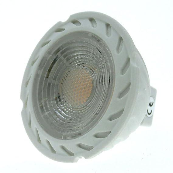 ELEDISON (2 piezas) LED GU5.3 bombilla 5W 12V AC DC, 90 grados y grados de ángulo de haz, 50x50mm, equivalente a bombilla halógena de 50W, blanco cálido ...