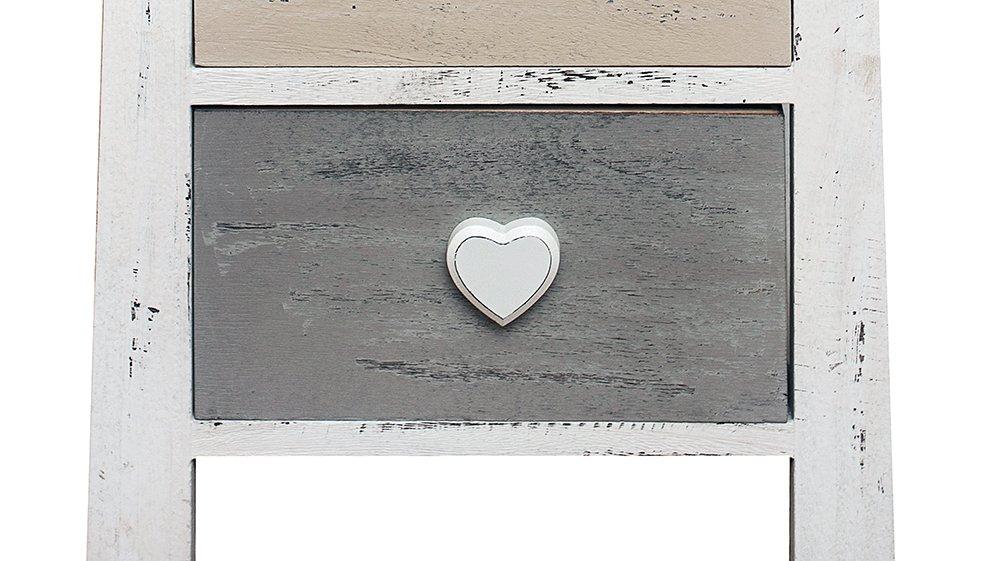 Diseño armario mesita de noche blanco corazón dormitorio vintage ...