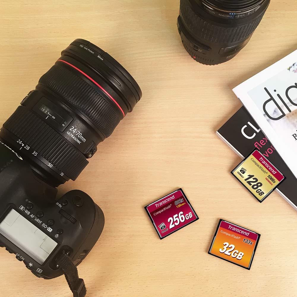 Transcend 256GB Compact Flash 800x Memory Card