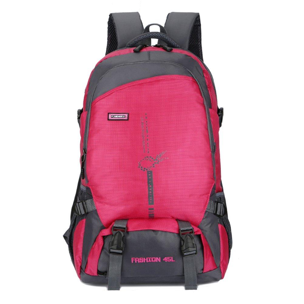 PET Backpack Nylon, Large Rucksack Men Women, Waterproof Camping Trekking Travel Outdoor PET Hiking Backpack Nylon Black