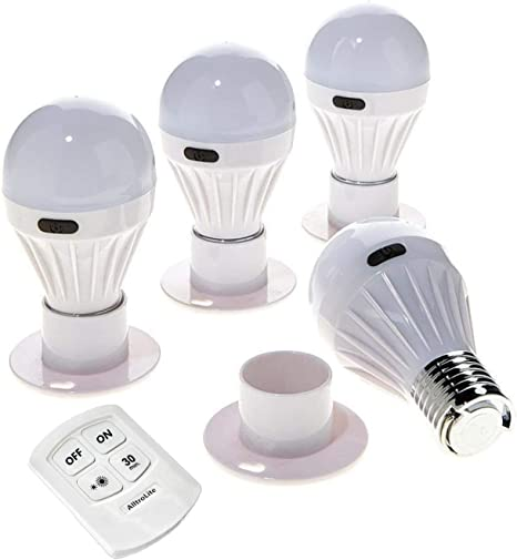 Wireless Light Bulb Stick Up Cordless Battery Operated Portable Night Lamp Cool