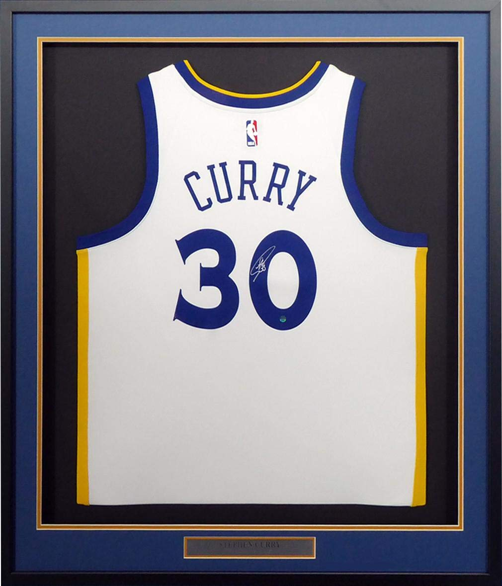 reputable site 28744 62d3c Stephen Curry Signed Jersey - Framed Nike White Holo ...