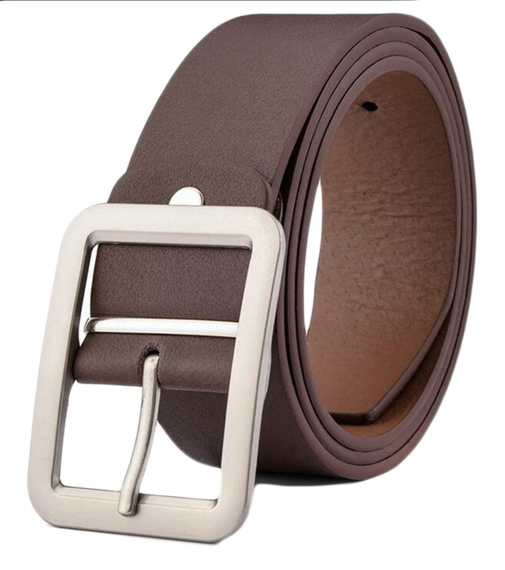 M&S&W Men's Fashion Genuine Leather Reversible Dress Belt with Rotated Buckle 1 OS
