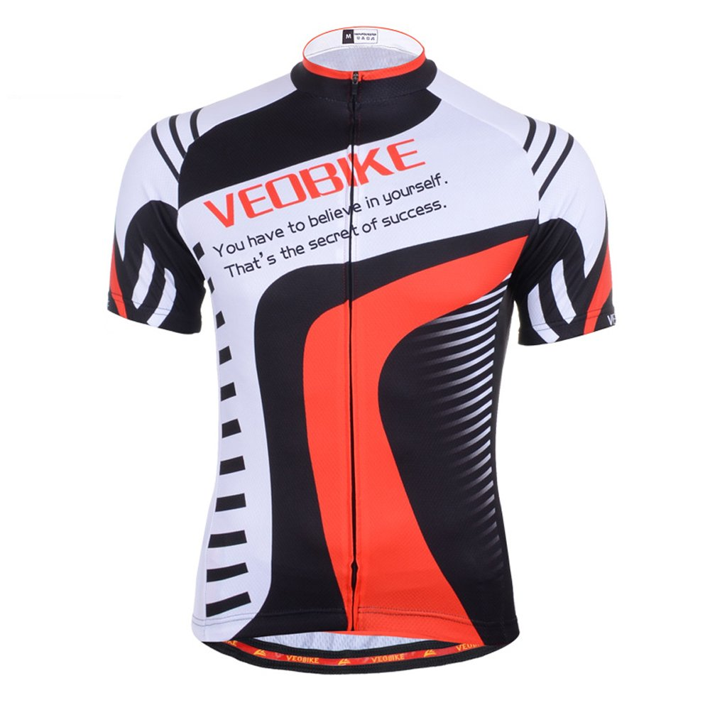 VEOBIKE WR Brave Series Cycling Jersey Fahrrad Racing Sommer Top Sportbekleidung Short Sleeve Shirt f/ür Herren WH
