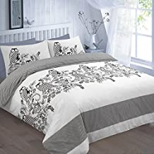 DECENT OWL-ISLAND DUVET SET - Duvet Cover & 2 Pillow Cases, POLYCOTON OWL PRINTED BEDDING : BLACK ALL UK SIZES (SUPER KING, OWL - BLACK) by Nightzone