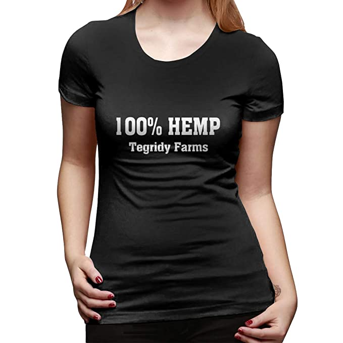 bb40ae3b Lichang 100% Hemp Tegridy Farms Women Summer Classic Shirt Short Sleeve Tees