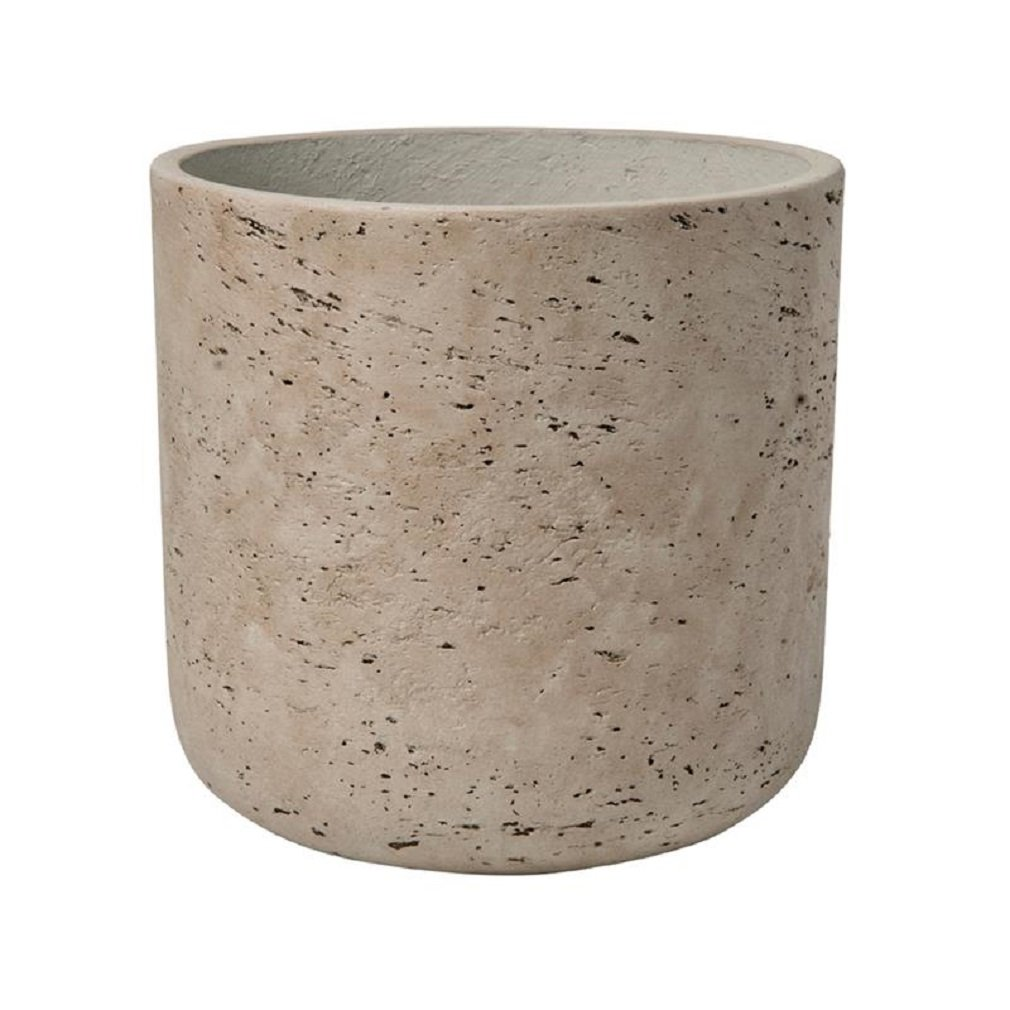 Pottery Pots Rough Grey Planter Washed Fiberstone indoor and outdoor Flower Pot 7'' H x 7'' W