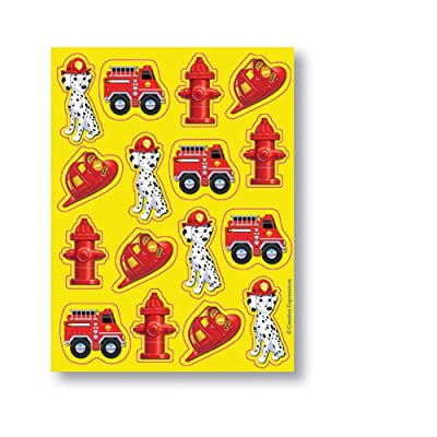 Creative Converting Firefighter Stickers 4 Sheets: Toys & Games