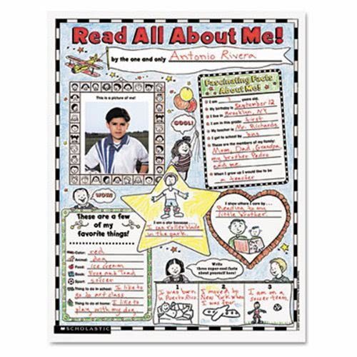 SCHOLASTIC INC 439152852 Instant Personal Poster Sets, Read All About Me, 17