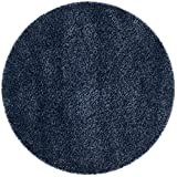 Safavieh California Premium Shag Collection SG151-7070 Navy Round Area Rug...
