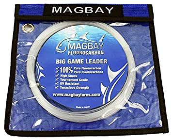 MagBay Lures 100 Fluorocarbon 150lbs, 80lbs 60lbs 33 Yard Fishing Line – Replaces SEAGUAR
