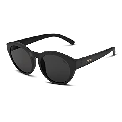 2c1c0ca4d4e Zeal Optics Unisex Fleetwood Matte Black W Polarized Dark Grey Lens One Size