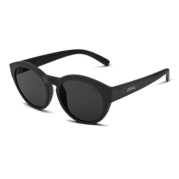 7299d2d5156 Zeal Optics Fleetwood Sunglasses - Matte Black Frame with Dark Grey Lens by Zeal  Optics  Amazon.co.uk  Clothing