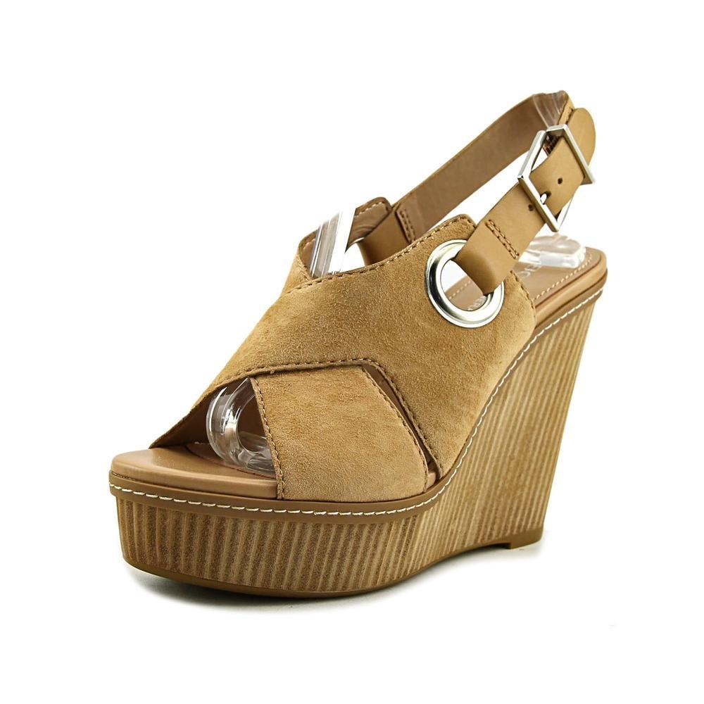 BCBGeneration Womens Penelope Leather Open Toe Casual Platform Sandals B071HF3XQQ 9.5 B(M) US|Sand/Sand