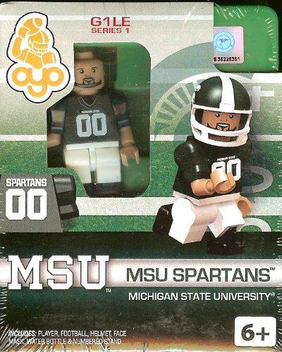 Michigan State University MSU Spartans College Football Oyo Mini Figure Lego Compatible Autorisée NCAA