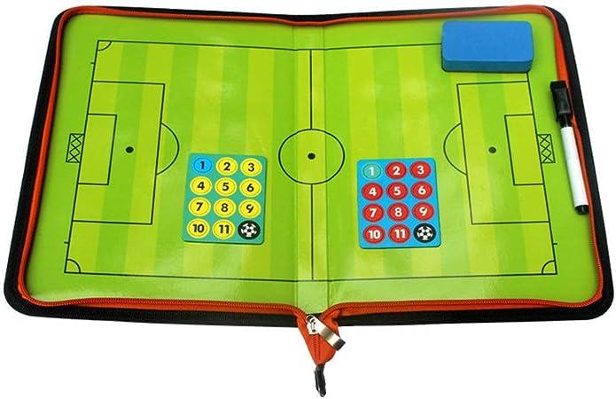 BaoYPP El Entrenador de fútbol portátil Herramienta El Entrenador de fútbol magnética Demostración Junta Cremallera Futbolín Magnética de estrategias y técnicas (Color : Photo Color, Size : 40x27cm): Amazon.es: Hogar