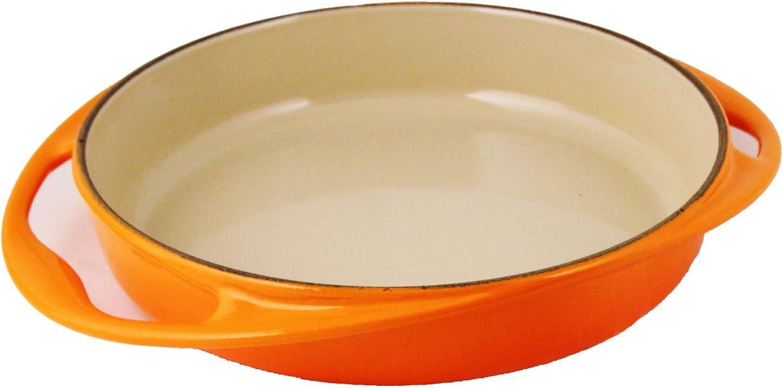 Le Creuset Plato para hornear Tartin de hierro fundido, redondo, Ø 28 cm, apto para todo tipo de estufas, incluida la inducción, horno rojo
