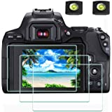 Screen Protector for Canon EOS Rebel SL3 / 250D Camera & Hot Shoe Cover, [2+3Pack] ULBTER 0.3mm 9H Hardness Tempered Glass Fl
