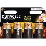 Duracell Plus Power Typ D Alkaline Batterien, 4er Pack