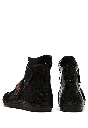Michel Domit Tenis de Bota Negro Zapato para Hombre Negro Talla 25.5   Amazon.com.mx  Ropa 995ece3ab1d