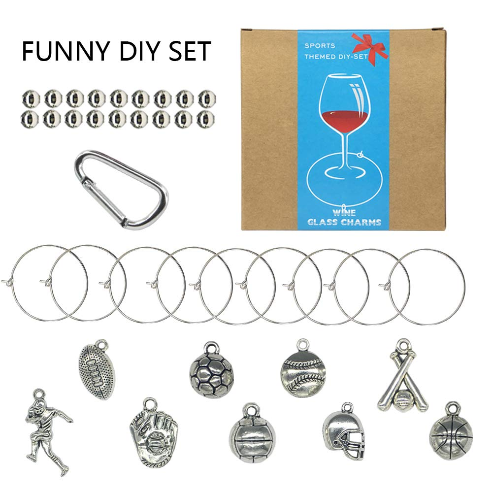 Wine Glass Charms,Funny Wine Themed Wine Charms Markers for Glass,Wine Tasting Party Supplies