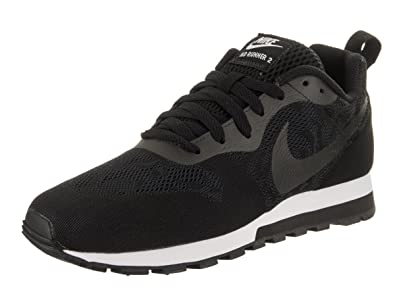 low priced b5822 3bbcd Nike New Women s MD Runner 2 BR Sneaker Black Black White 6