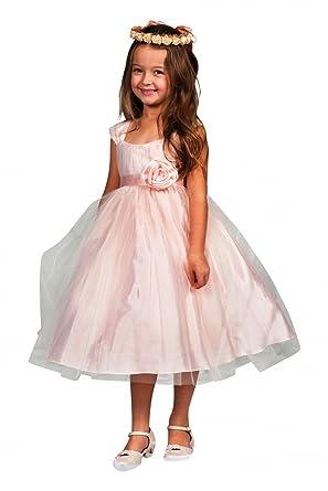 BIMARO Hübsches Kleid Hannah apricot rosa für Mädchen mit tollem ...