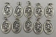O'Connor's Saint Michael Bulk Buy. Ten St. Michael Medals. Catholic Arch Angel Saint Michae