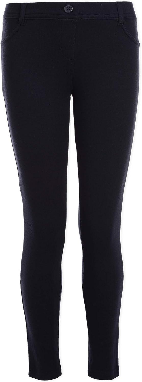 Nautica Girls' School Uniform Stretch Interlock Legging: Clothing