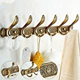 Ohcde Dheark European Vintage Bronze Hooks Retro Carved Rows Of Hooks Antique Closet Hooks Bathroom Hooks Wall Mount,222