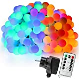 Amazon Price History for:Ball Fairy Lights, 39 ft 100 LED Colorful Globe Fairy Light with 31V Plug Multicolor with Wireless Remote Control and Timer 6 Modes Dimmable