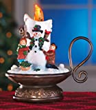 Collections Etc Lighted Musical Snowman Candle, Snowman