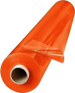 Steiner 338-60-25GR 14 Mil Flame Retardant Orange Tinted Transparent Vinyl Curtain Roll, 60′′ Height x 25 yd