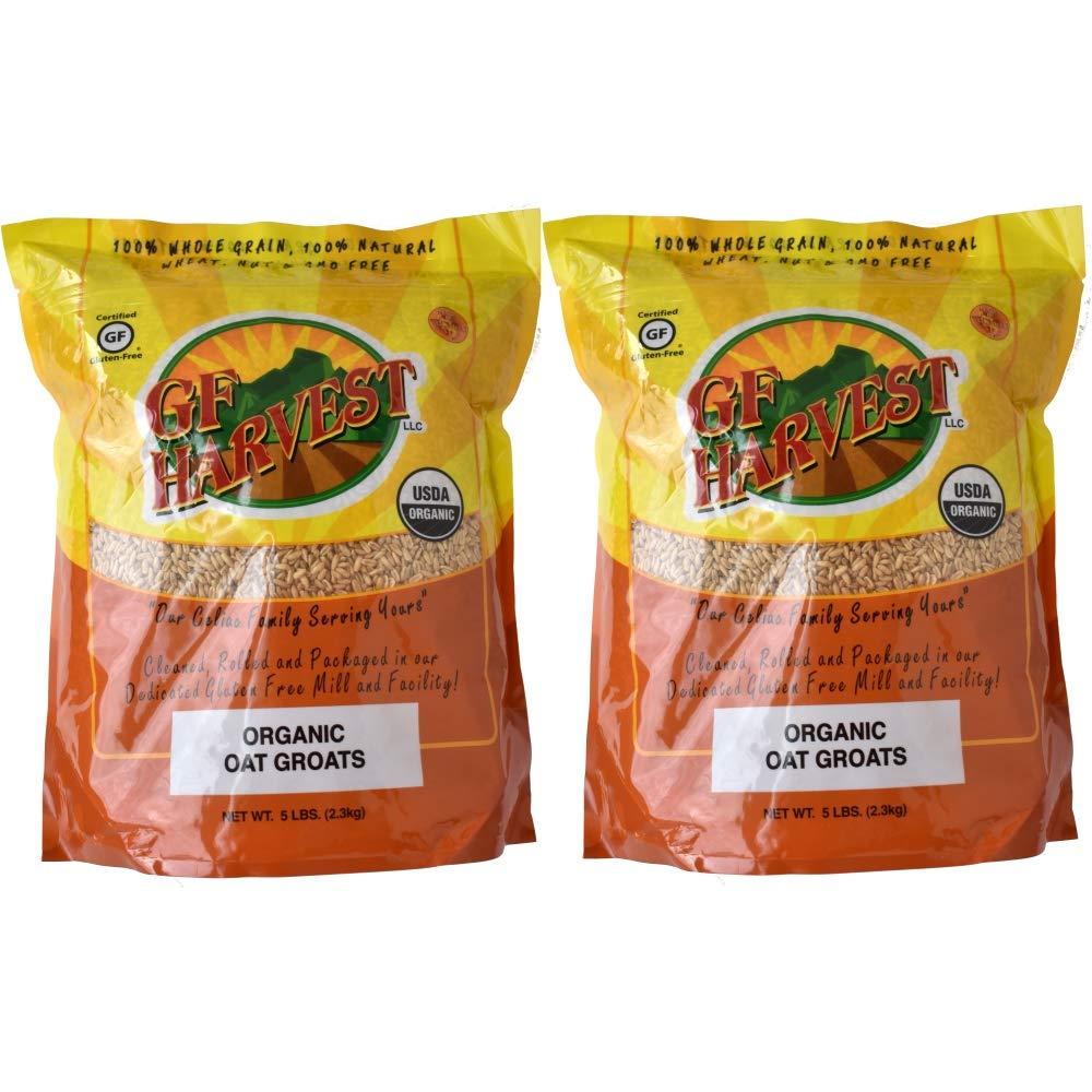 GF Harvest Gluten Free Organic Oat Groats, 5 lbs, 2 Count by GFHA0