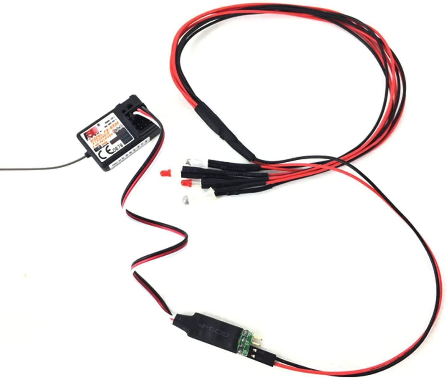 3CH LED Light Control Switch System Turn ON//Off Flash for RC Car Model Parts