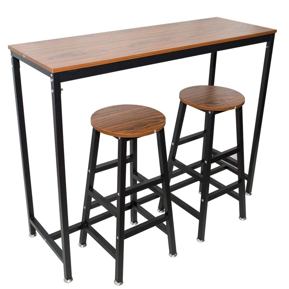 AMEOY Kitchen Table, Coffee Table Dining Table Bar Table Pub Table Wooden Table Vintage Rectangular Table with Metal Frame Home Table