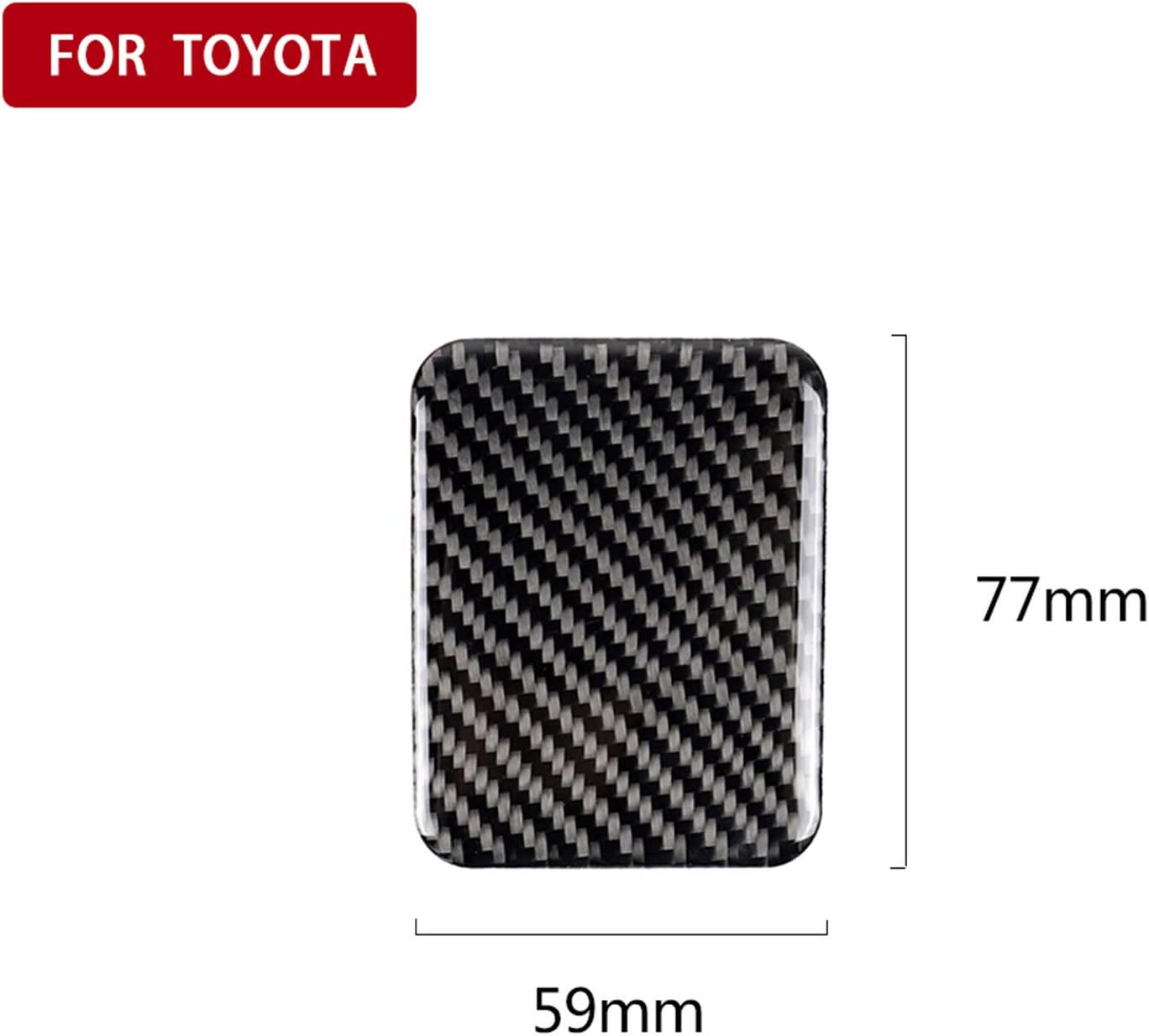 Type B hors Carbon Fiber Center Console Dashboard Decoration Panel Frame Decal Cover Trim for Subaru BRZ Toyota GT86 TRD 2013-2019 T10