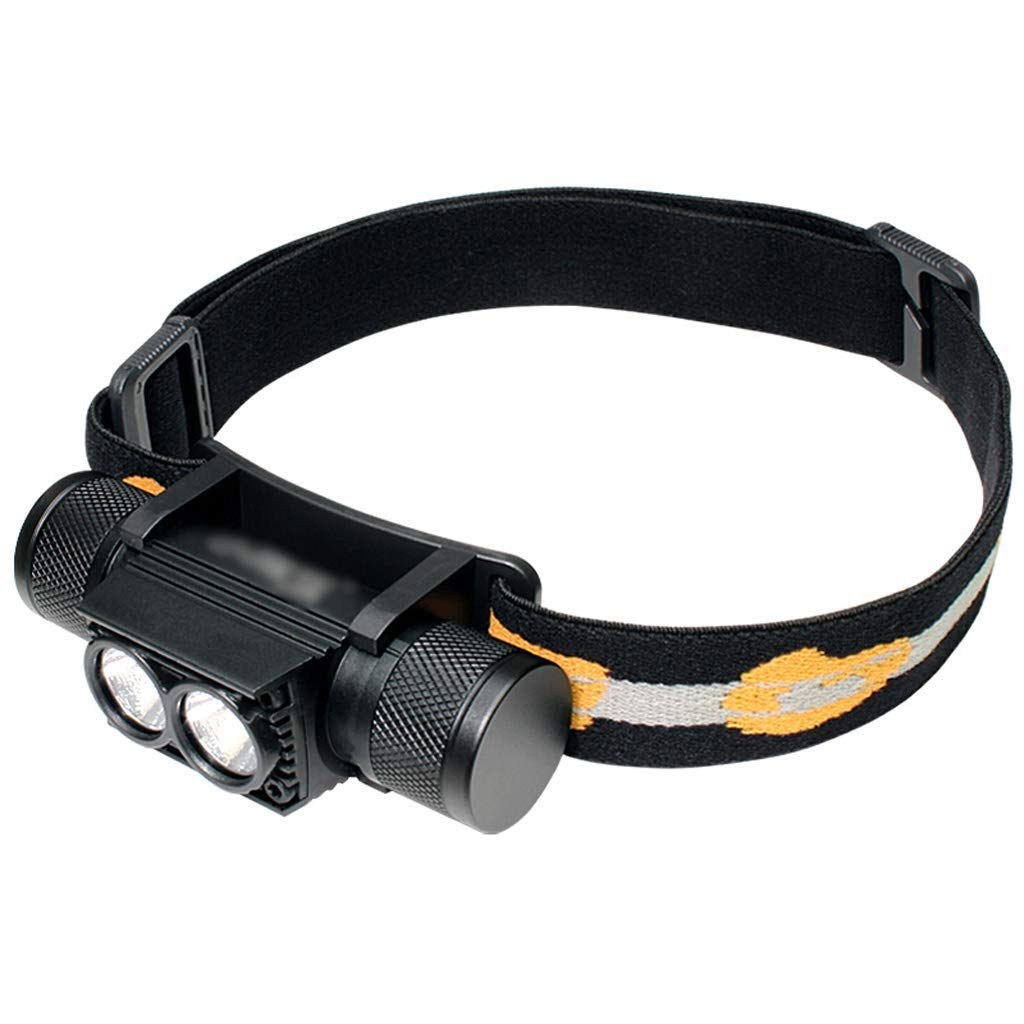 QAZWS Rechargeable LED Headlamp, Bright 500 Lumens with White Red Lights, Hands-Free, Long Last 48 Hours, Lightweight with Portable Pouch, Best Headlight for Indoor Outdoor Many Lighting Use