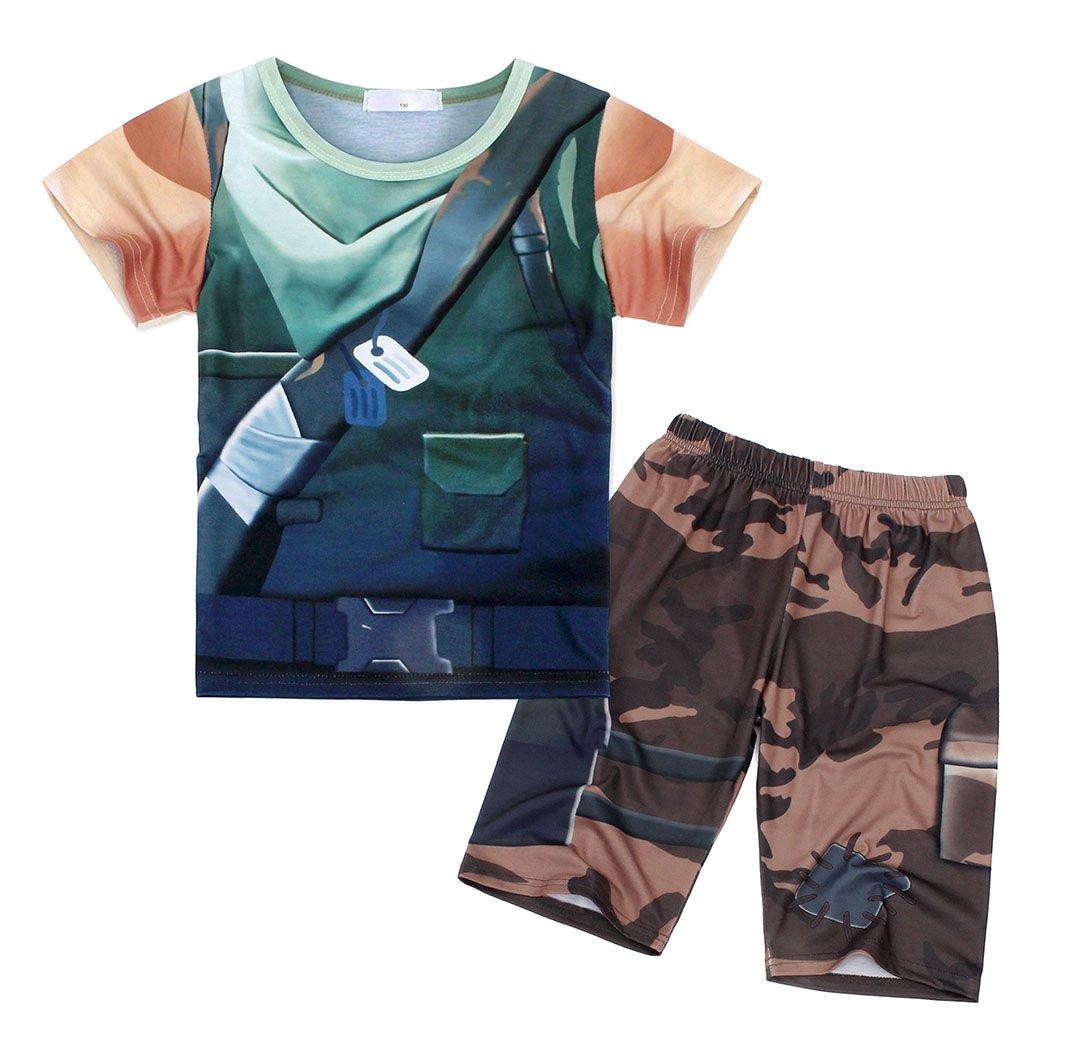 AmzBarley Battle Costume Royale Games Gamer Shirt and Shorts Outfits Size 8 by AmzBarley (Image #3)