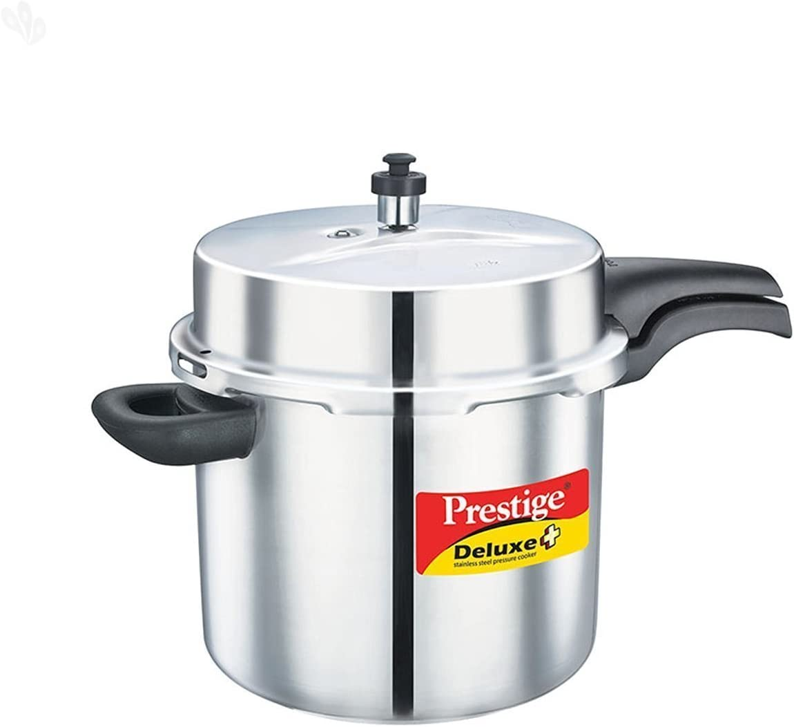Prestige Deluxe Alpha Induction Base Pressure Cooker, 10-Liter, Stainless Steel